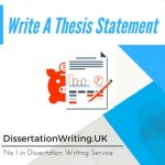 Write a Dissertation Statement